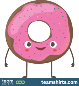 Donut with face