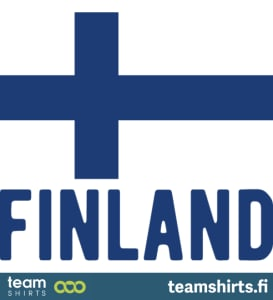 Suomi lippu ja finland teksti