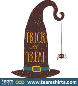Halloween invitation witches hat