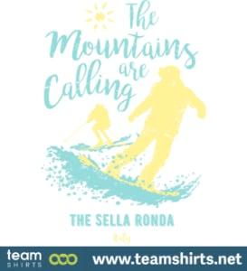 Snowboard Ski Die Sella Ronda Italien