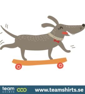 DOG LEARNING NEW SKATE TRICKS