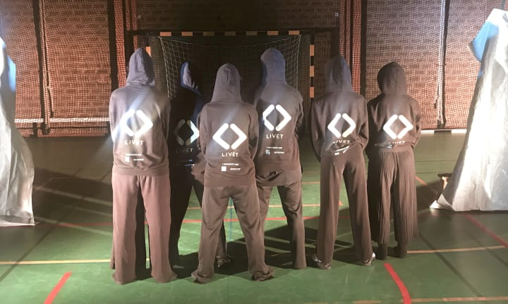 """The Dance Troupe """"Life"""" and their custom hoodies"""