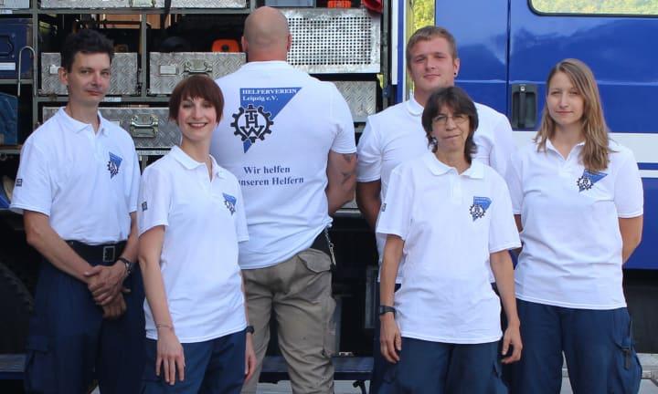 Das THW und ihre bedruckten Shirts