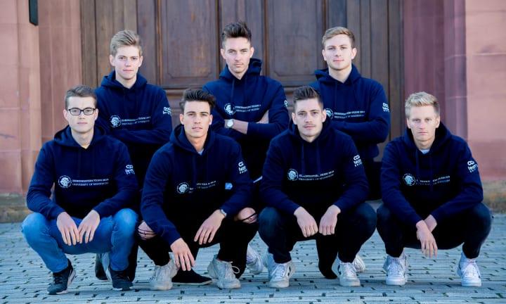 La Team Euromaster de l'Université de Mannheim et leurs sweats personnalisés