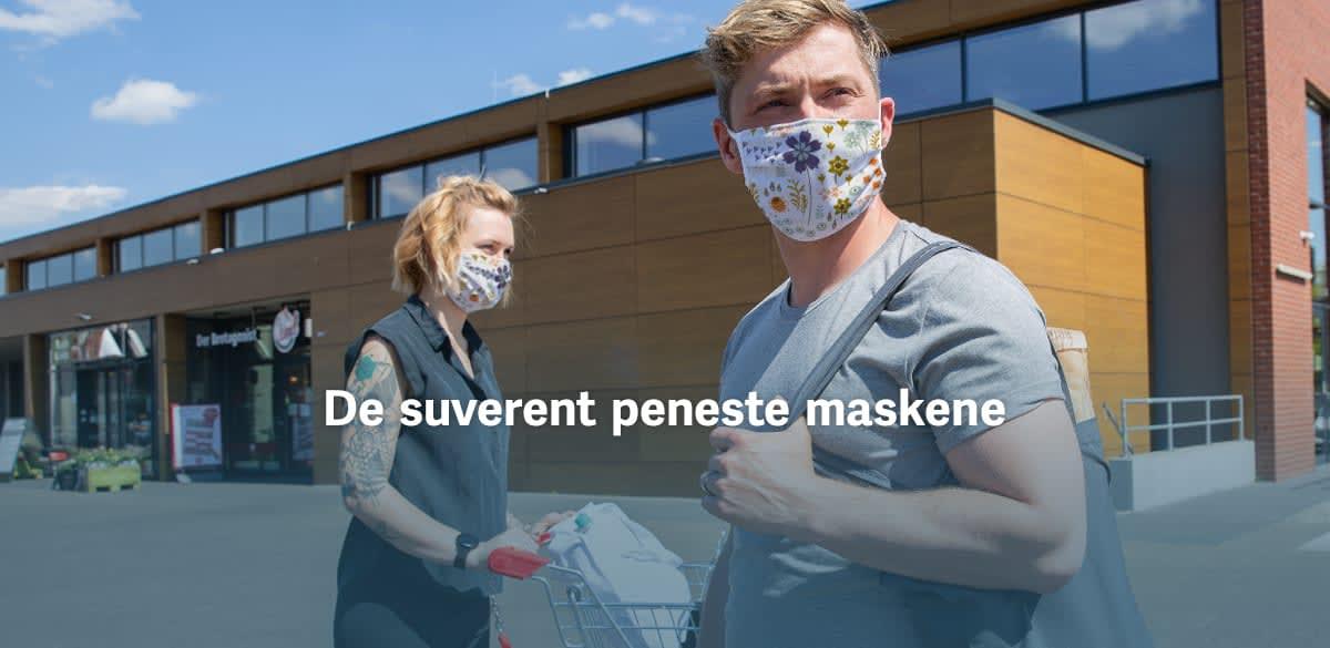 Lag trykk på stoffmasker