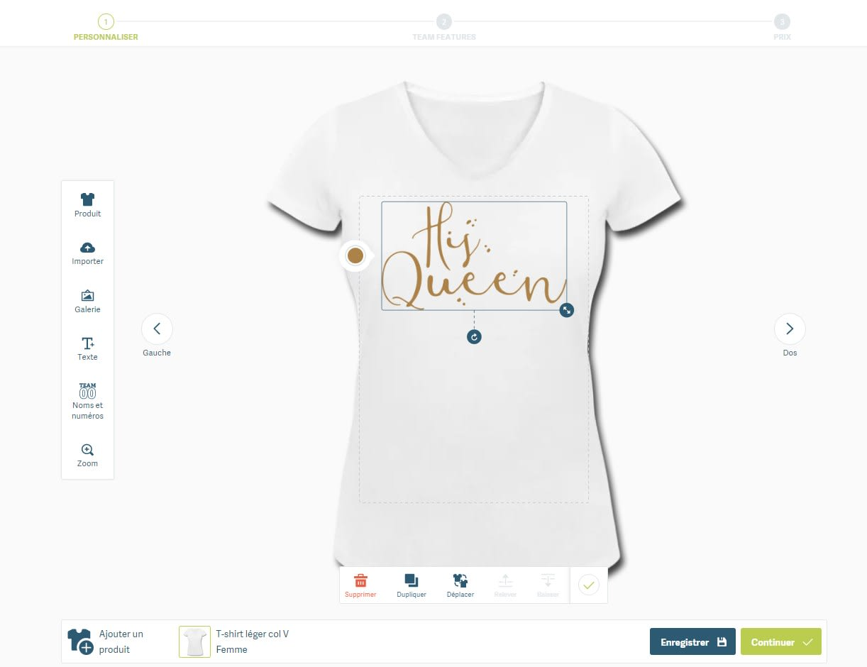 Tee Shirt EVJF classique