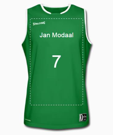 Basketbal shirt ontwerpen