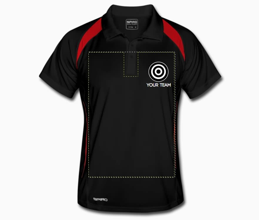 personalised dart polo shirts