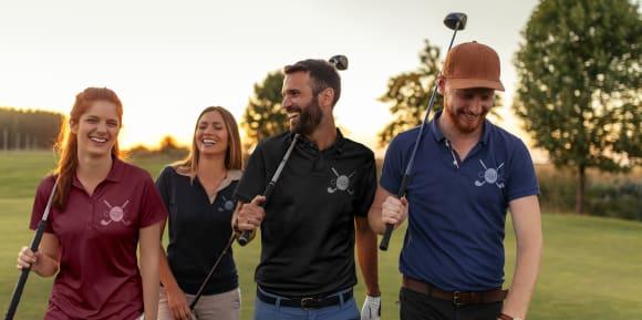 Tryck pikétröjor och T-shirts för golf