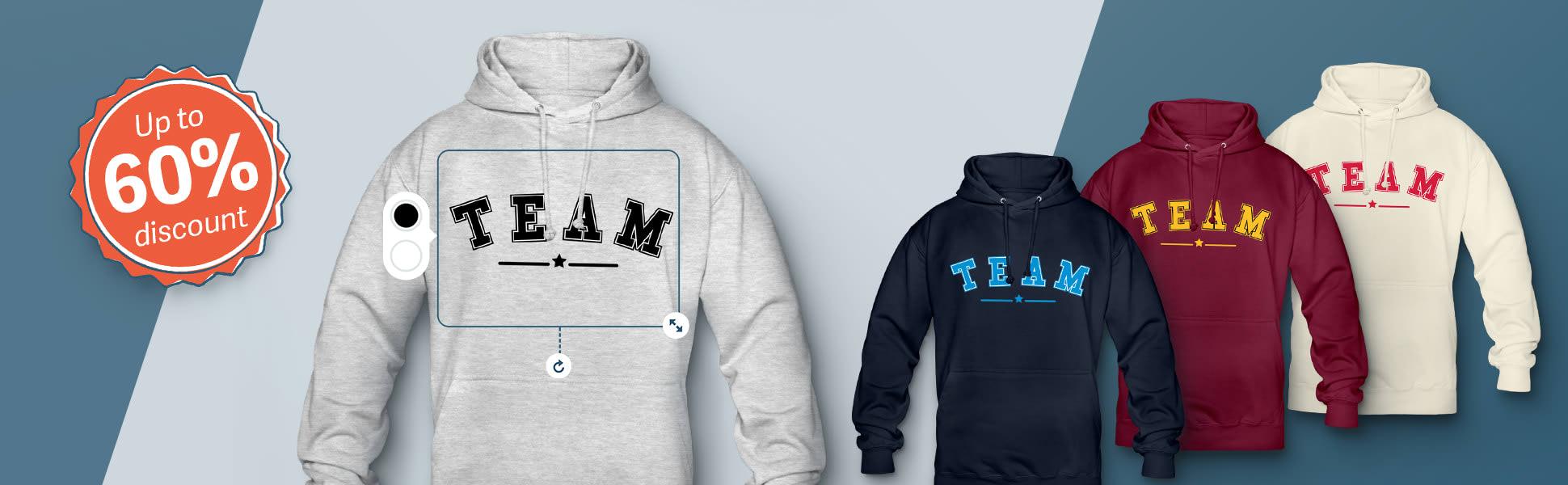 cheap personalised hoodies