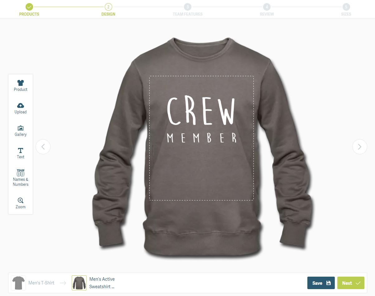 How to design sweatshirts & jumpers for teams