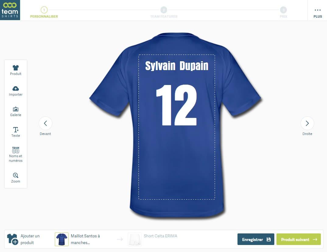 créer son maillot de foot