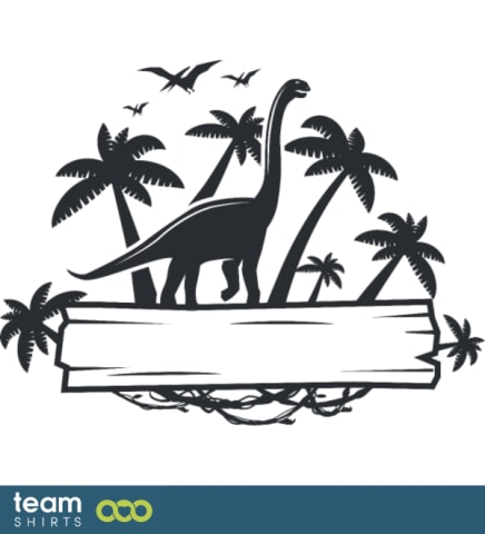 Dinosaurier-Label