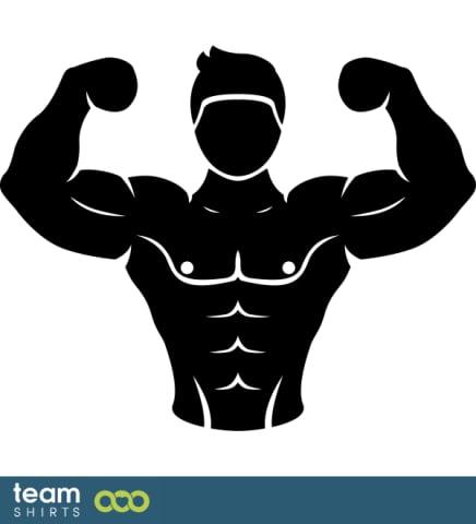 Posing body builder
