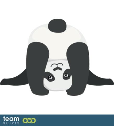 Netter Panda, der sich überlehnt