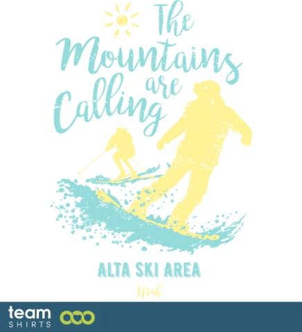 Snowboard Ski Alta Skigebiet Utah