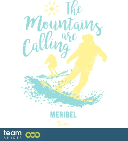 Snowboard Ski Meribel Frankreich
