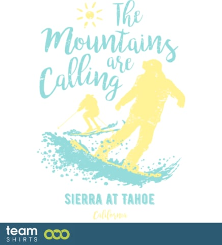 Snowboard Ski Sierra bei Tahoe Kalifornien