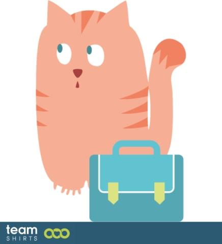 Katze und Schultasche