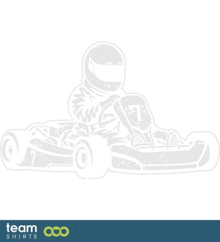 Kartfahrer fahren