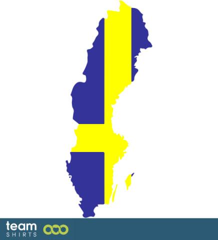 SWEDEN SILHOUETTE COLOURED