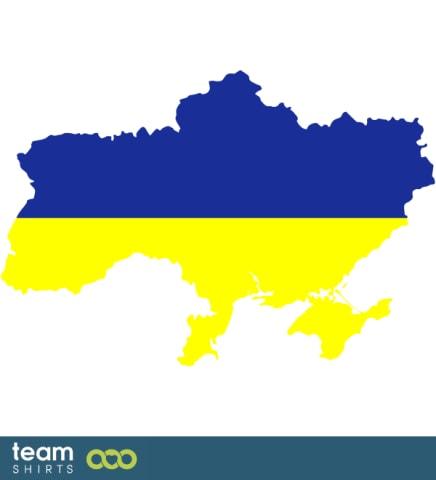 UKRAINE SILHOUETTE COLOURED